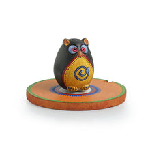 Load image into Gallery viewer, 'Owl Shaped' Terracotta Incense Stick Holder With Tray (2 Sticks Holder)