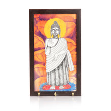Load image into Gallery viewer, Lord Buddha Canvas Handapinted Key Holder