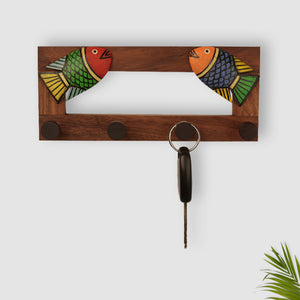 Elegant Fish Key Holder In Sheesham Wood