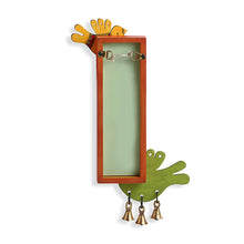 Load image into Gallery viewer, 'Chirping Birds' Key Holder With Mirrors Handmade In Wood