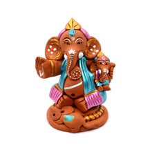 Load image into Gallery viewer, Terraotta Handpainted Baby Holding Ganesha