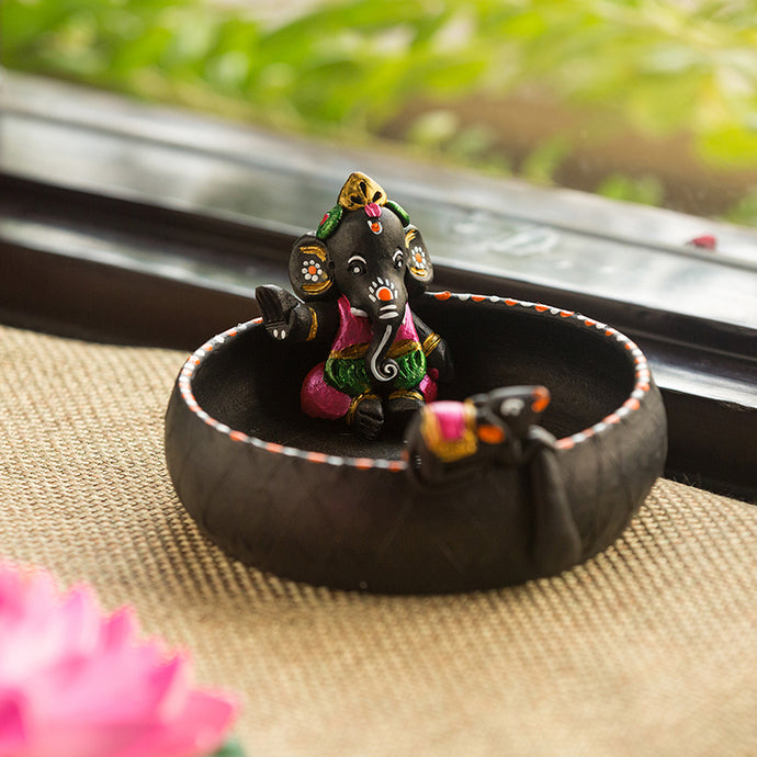 Terracotta Handpainted Pound Ganesha