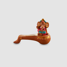 Load image into Gallery viewer, Terracotta Handpainted Veena Ganesha
