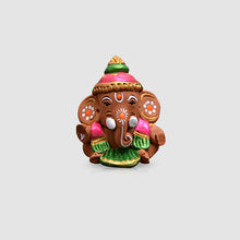 Load image into Gallery viewer, Terracotta Handpainted Baby Car Ganesha