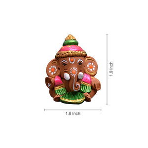 Terracotta Handpainted Baby Car Ganesha