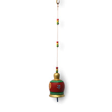 Load image into Gallery viewer, Terracotta Handpainted Bell Hanging Multicolour
