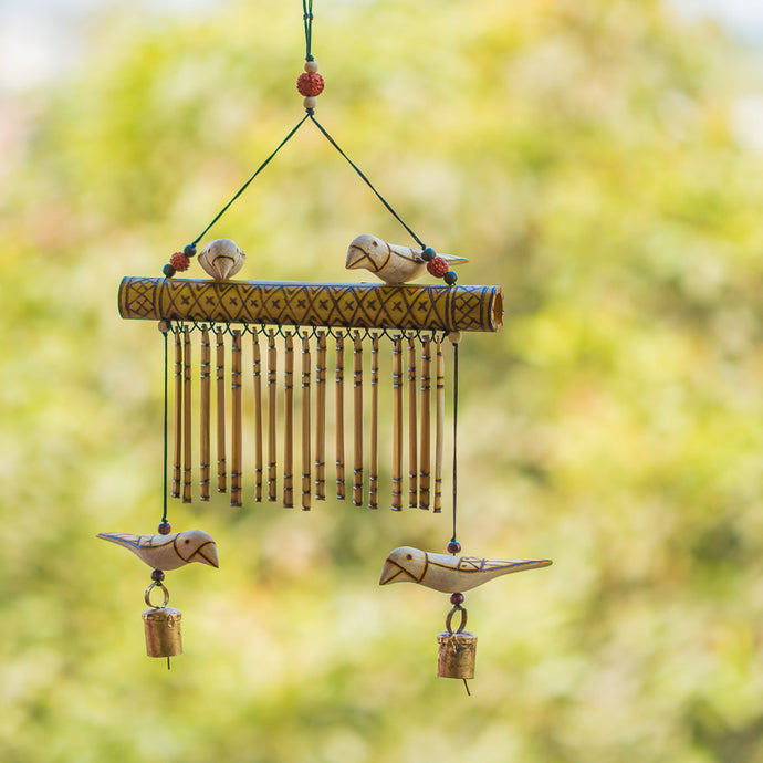 Bird Collection Wooden Handmade Decorative Wind Chime