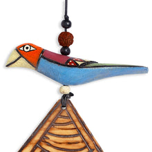 Load image into Gallery viewer, Wooden Handmade & Hand-Painted Bird Wind Chime With Kutchh Bells