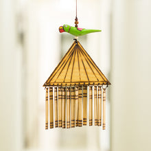 Load image into Gallery viewer, Wooden Handmade & Hand-Painted Parrot Decorative Hanging