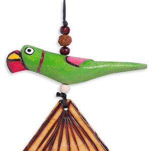 Wooden Handmade & Hand-Painted Parrot Decorative Hanging