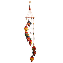 Load image into Gallery viewer, 'Shankh Twirls' Hand-Painted Decorative Hanging In Terracotta