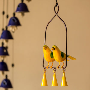 'Cannery Twittery' Hand-Painted Decorative Hanging Wind Chime In Metal
