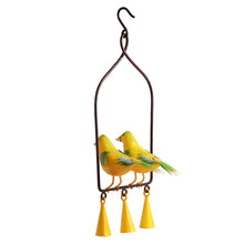 Load image into Gallery viewer, 'Cannery Twittery' Hand-Painted Decorative Hanging Wind Chime In Metal
