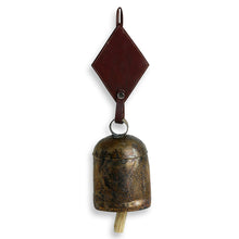Load image into Gallery viewer, Handmade Antique Metal Bell Wind Chime With Leather Strap