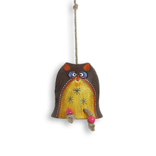 Load image into Gallery viewer, 'Owl Shaped' Decorative Hanging In Terracotta