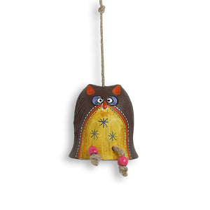 'Owl Shaped' Decorative Hanging In Terracotta