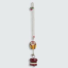 Load image into Gallery viewer, 'Owl Motif' Decorative Hanging Metal Wind Chime (1 Bell)