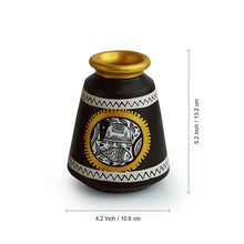 Load image into Gallery viewer, 'Urn & Pot' Vases With Intricate Madhubani Hand-Painting In Terracotta (Set Of 2)