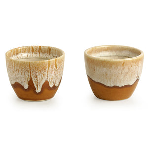 'Melting Glaciers' Studio Pottery Planters (Set Of 2)