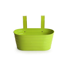 Load image into Gallery viewer, 'Grass Green' Hand-Painted Metal Railing Cum Table Planter Pot