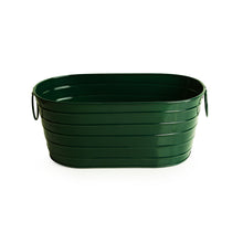 Load image into Gallery viewer, 'Emerald Green' Hand-Painted Metal Floor Cum Table Planter Pot