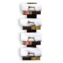 Load image into Gallery viewer, 'Wall Trinklet' Teak Wood Warli Towel Holder With Dhokra Animal Figurines (4 Shelves)