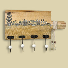 Load image into Gallery viewer, 'Whitwewood Canvas' Wall Cloth Hanger With Warli Hand-Painting & Jute Dori