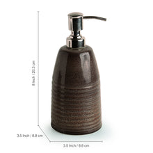 Load image into Gallery viewer, The 'Cocoa Essentials' Hand Glazed Studio Pottery Ceramic Bathroom Accessory Set Of 3