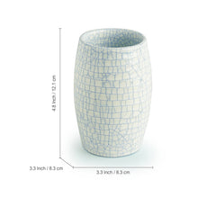 Load image into Gallery viewer, The 'Crackled Essentials' Handglazed Studio Pottery Ceramic Bathroom Accessory Of 3