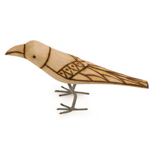 Load image into Gallery viewer, Handmade And Hand Painted Bird Family Showpiece In Wood