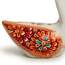 Load image into Gallery viewer, Meenakari White Swan Handenamelled Set In Metal