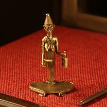 Load image into Gallery viewer, 'Bell Ringer' Handmade Brass Figurine In Dhokra Art