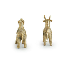 Load image into Gallery viewer, 'Royal Twins' Handmade Brass Figurines In Dhokra Art (Set Of 2)