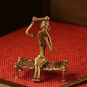 'Royal Bride' Handmade Brass Figurine In Dhokra Art