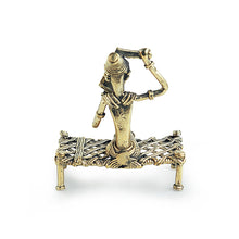 Load image into Gallery viewer, 'Royal Bride' Handmade Brass Figurine In Dhokra Art