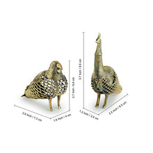 Load image into Gallery viewer, 'Golden Birds' Handmade Brass Showpiece In Dhokra Art (Set Of 2)