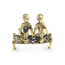 Load image into Gallery viewer, 'Golden Couple' Handmade Brass Figurine In Dhokra Art