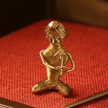 Load image into Gallery viewer, 'Kingri Musician' Handmade Brass Figurine In Dhokra Art