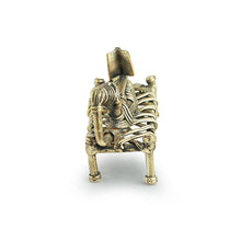 Load image into Gallery viewer, 'Reading Woman' Handmade Brass Figurine In Dhokra Art