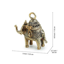 Load image into Gallery viewer, 'Royal Elephant' Handmade Brass Figurine Cum Box In Dhokra Art