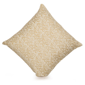Bliss Wooden Handblocked Cushion Cover In Soft Cotton