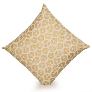 Millenia Wooden Handblocked Cushion Cover In Soft Cotton