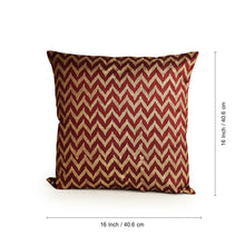 "Load image into Gallery viewer, ""Chevron Pattern Hand Blocked"" Cushion Cover In Silk (Set Of 2)"