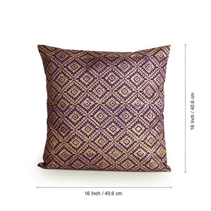 """The Royal Tessellation Hand Blocked"" Cushion Cover In Silk (Set Of 2)"