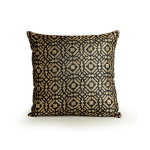 "Load image into Gallery viewer, ""Tessellation Pattern Hand Blocked"" Cushion Cover In Silk (Set Of 2)"