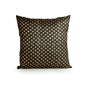 """Celestial Stars Hand Blocked"" Cushion Cover In Silk"
