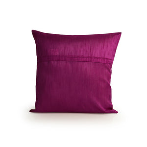 """Pink Palace Hand Blocked"" Cushion Cover In Silk"