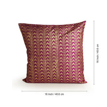 "Load image into Gallery viewer, ""Pink Palace Hand Blocked"" Cushion Cover In Silk"