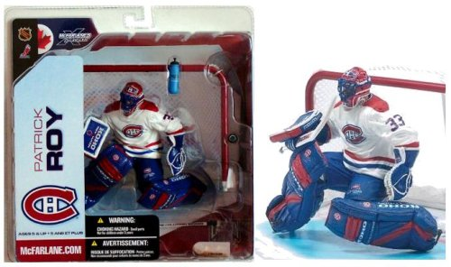 McFarlane NHL Series 5 Action Figure / Patrick Roy - Montreal Canadiens (Regular White Jersey)