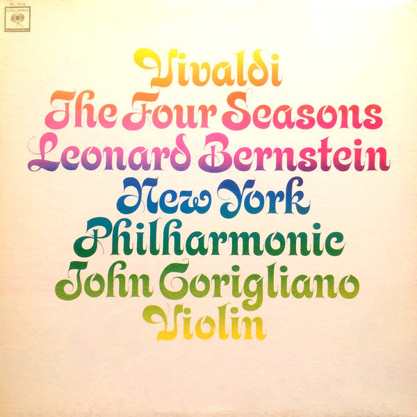 Vivaldi, Leonard Bernstein, New York Philharmonic ‎ / The Four Seasons, Op. 8 - LP (used)